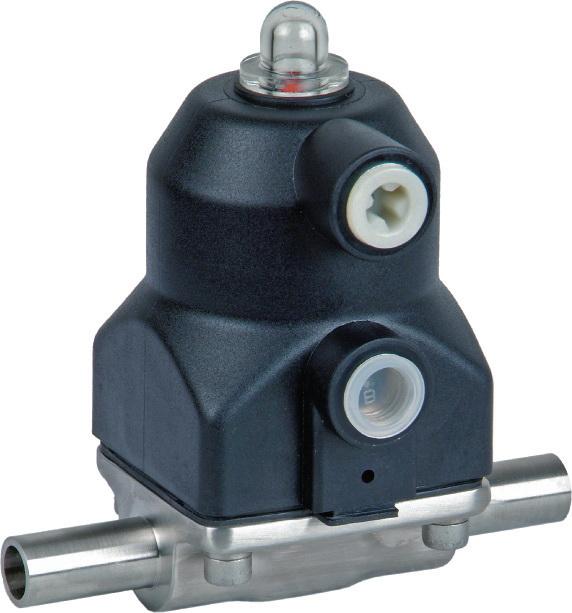 Серия ASCO KMD Тип 188 с пневматическим управлением DN 8 - 20мм (3/8-3/4)