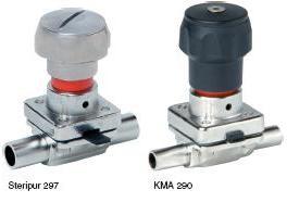 Серии ASCO Steripur 297 / KMA 290 с ручным управлением DN 4 - 15мм