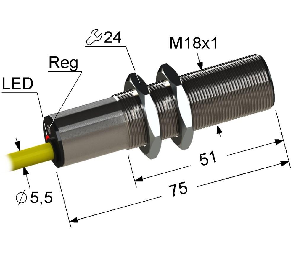Емкостный выключатель VB1-18M75-5B11-K (ВБ1.18М.75.5.1.1.К)